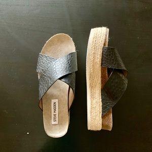 Steve Madden Open Toe Leather Platform Sandal